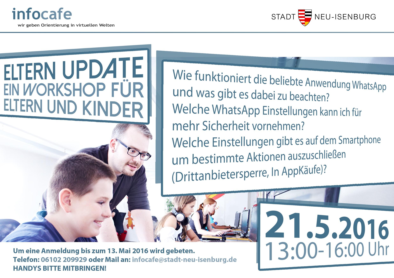 Eltern Update im Infocafe! Ein Eltern/Kind Workshop